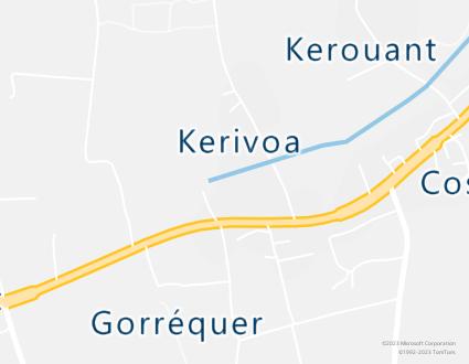 Image de carte  29120 Plomeur 253 255 Kerivoa partagé par Azure Maps