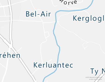 Image de carte  29720 Plovan Kersouron Bras partagé par Azure Maps