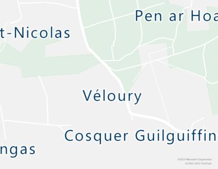 Image de carte  29710 Landudec Véloury partagé par Azure Maps