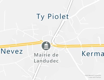 Image de carte  29710 Landudec 1 5 Rue Du Sacré Coeur partagé par Azure Maps