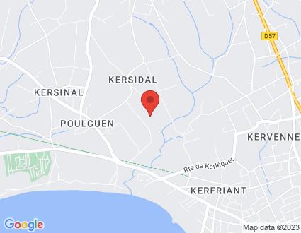 Carte  29120 Plomeur Kersidal partagé par Service de cartographie Google Maps™