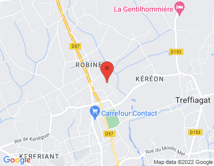 Carte  29120 Plomeur Cité De Robiner partagé par Service de cartographie Google Maps™