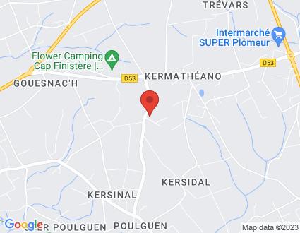 Carte  29120 Plomeur Route De Kerigou partagé par Service de cartographie Google Maps™