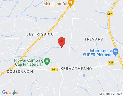 Carte  29120 Plomeur Hent Ménez Landu partagé par Service de cartographie Google Maps™