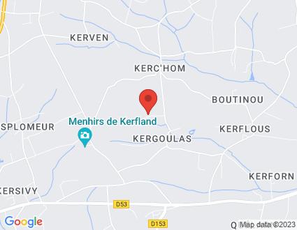 Carte  29120 Plomeur 317 318 Kerhom partagé par Service de cartographie Google Maps™