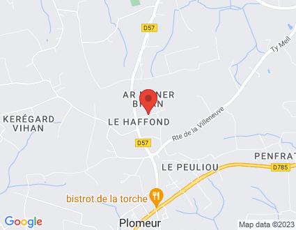 Carte  29120 Plomeur 218 219 Le Petit Manoir partagé par Service de cartographie Google Maps™