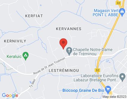 Carte  29120 Plomeur 245 Treminou partagé par Service de cartographie Google Maps™
