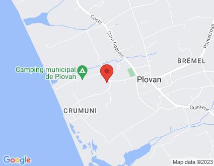 Carte  29720 Plovan 1 151 Prat Kergoe partagé par Service de cartographie Google Maps™