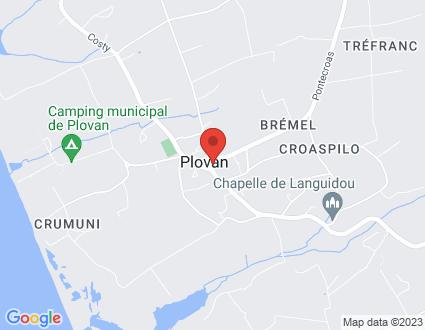 Carte  29720 Plovan 4 Route De Pouldreuzic partagé par Service de cartographie Google Maps™