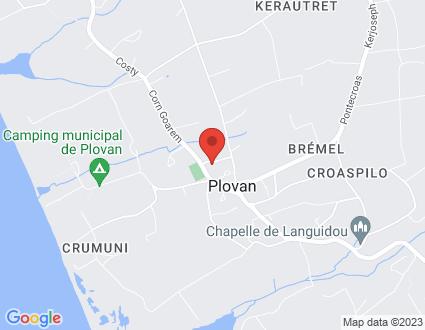 Carte  29720 Plovan 8 14 Lotissement De Trez Foen partagé par Service de cartographie Google Maps™