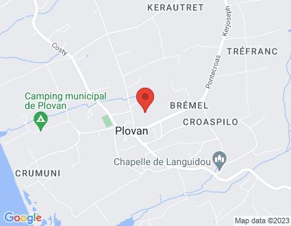 Carte  29720 Plovan 19 Trez Foen partagé par Service de cartographie Google Maps™
