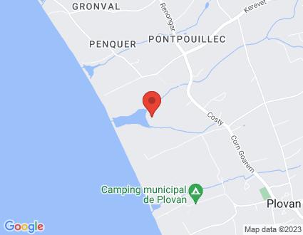 Carte  29720 Plovan Nerizelec partagé par Service de cartographie Google Maps™
