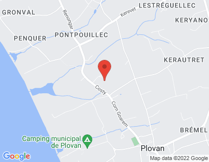 Carte  29720 Plovan Crugou partagé par Service de cartographie Google Maps™