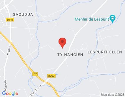 Carte  29720 Plovan Kerviel partagé par Service de cartographie Google Maps™