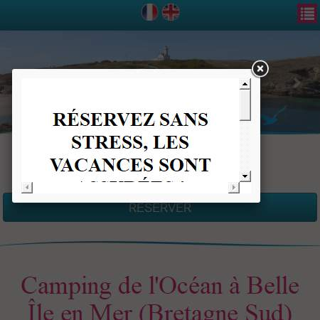 Morbihan 56 annuaire r f323 camping de l 39 oc an france for Camping belle ile en mer avec piscine